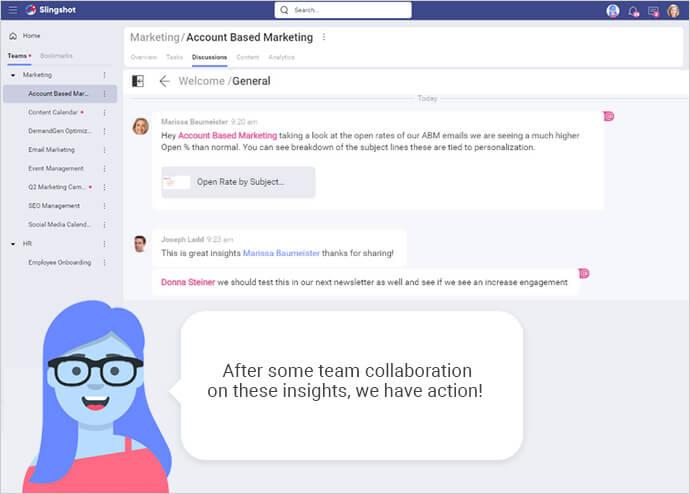 Slingshot team collaboration
