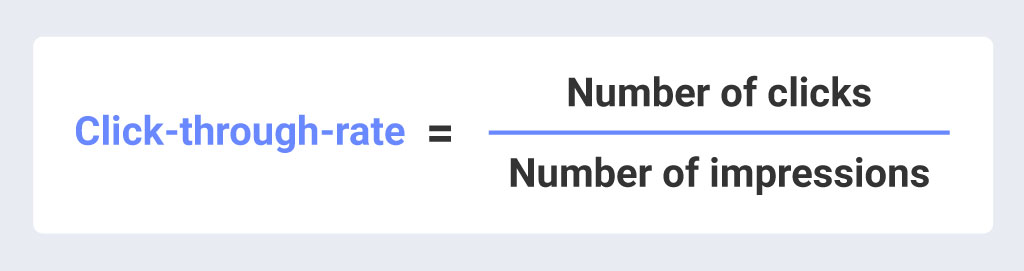 how to calculate your click-through-rate formula