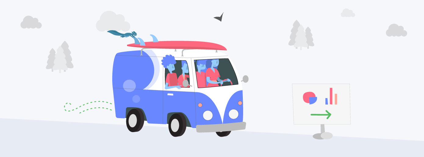 Slingshot illustration representing data driven roadmap